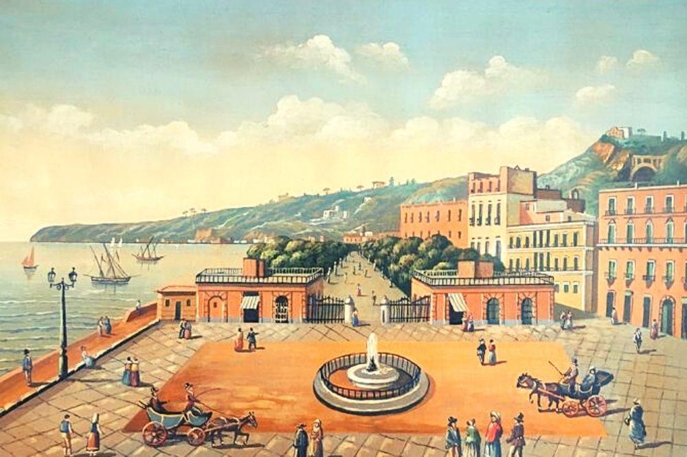 quadro villa comunale napoli